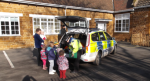 Police Car at Little Houghton Day Nursery