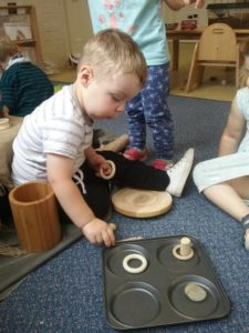 Loose parts play at Little Houghton Day Nursery 1